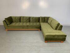 """RRP £ 8000-Parfait ROCHE BOBOIS """"Boutons"""" L-Shape Sectional Sofa en Mi-Gr..."""