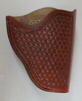 "HANDCRAFTED BROWN LEATHER HOLSTER Fits .38 COLT or S&W 2"" BARREL DETECTIVE"