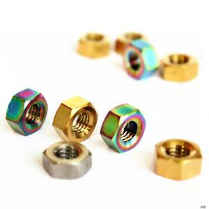 4pcs TC4 Titanium Screw Nuts Gray Golden Rainbow M3 / M4 / M5 / M6 / M8 / M10