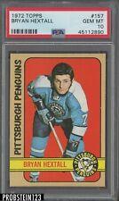 1972 Topps Hockey #157 Bryan Hextall Penguins PSA 10 GEM MINT