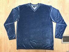 Vintage Guess Jeans USA RARE Blue Fleece V-Neck Pullover Sweatshirt X-Large Mint