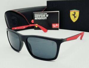 """RAY BAN black-red/gray """"SCUDERIA FERRARI"""" RB4228M-F60287 sunglasses! NEW IN BOX!"""