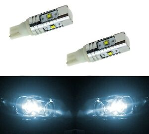 LED Light 30W 194 White 6000K Two Bulbs Front Side Marker Parking Stock Fit T10