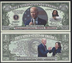 President Joseph Biden Federal Inaugural 2021 Million Note