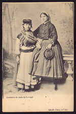 women typical COSTUMES from North PORTUGAL. Original old postcard 1900s