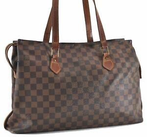 Authentic Louis Vuitton Damier Columbine 100 ANS Shoulder Bag N99037 LV E0612
