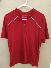 Novara Bike Cycling Red Jersey 1/2 Zip -Sz Large-Fast Ship!