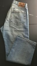 RL Polo Ralph Lauren Men's Faded Blue Jeans Tag Size 32 x 30(UBMFPJ)