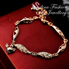 18K Rose Gold Plated Made With Swarovski Crystal Exquisite Lovely Fox Bracelet