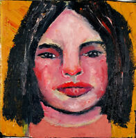 Original Acrylic Girl Figure Painting on Canvas by Katie Jeanne Wood