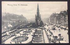 POSTCARD Princes Street EDINBURGH 1910 Scotland WALTER SCOTT MONUMENT 796