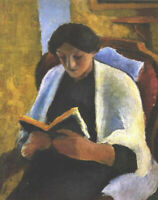 """high quality oil painting handpainted on canvas""""a woman reading a book"""""""
