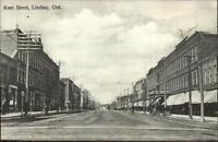 Lindsay Ontario Kent Street c1910 Postcard