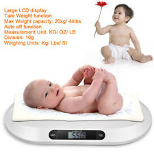 BABY SCALE Babywaage 20kg / 10g Kleintierwaage Klein Tier Waage LED Still Waage