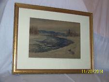 *Arthur B.Wilder* Connecticut River Original c1909 Annual Exibition Painting