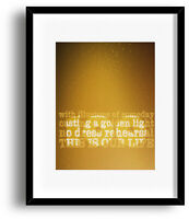 Song Lyrics Music Quote Art Print Poster - Ahead by a Century by Tragically Hip