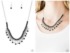 NWT! Paparazzi ~ A Touch of CLASSY ~ Black Necklace