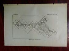 1897 USGS Map or Reservoir Site on Blackfoot River Idaho