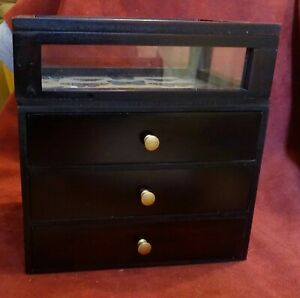 Small Tabletop Collectors Cabinet