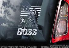 Bruce Springsteen 'THE BOSS' - Car Window Sticker - Rock Music E Street Band -V1