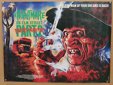 a nightmare on elm street 2 ROLLED quad cinema film poster +uk video film poster