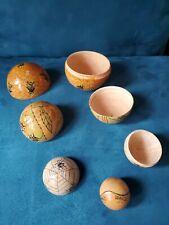 "Matryoshka Russian Nesting Dolls Hand Painted 5 Piece Nesting Balls 3"" Insects"