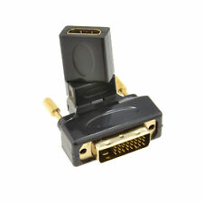 Rotating Multi-Angle Female HDMI to Male DVI-D Plug 24+1 pin Adapter [003546]