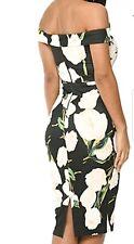 Beautiful AX Paris Size 14 Notch Neck Floral Off The Shoulder Dress, Bodycon