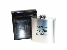 Father of the Groom  6 oz Stainless Steel Hip Flask - Laser Engraved
