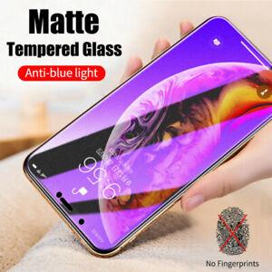 2x iPhone 12 11 SE 6 7 8 X XR XS Anti Blue Matte Tempered Glass Screen Protector