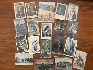 20 Indian / Native American Real Photo Postcards/ RPPC Lot 5