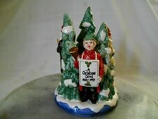 FITZ AND FLOYD CHRISTMAS CAROL CANDLE HOLDER 1993