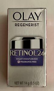 Olay Regenerist Retinol 24 night moisturizer fragrance-free 0.5 oz (2BOX)