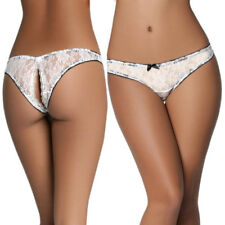 Women Ladies lace G-string Briefs Crotchless Panties Thongs Lingerie Underwear