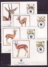 Burkina Faso 1993 - FDC - Dieren / Animals WWF/WNF