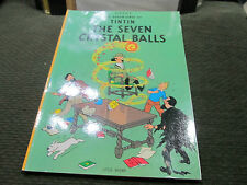 The Seven Crystal Balls by Hergé 1975 Paperback Herge softcover excellent comic!