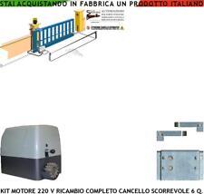 MOTORE 220 V RICAMBIO CANCELLO SCORREVOLE 6 Q.LI COMPATIBILE FADINI CAME BENINCA