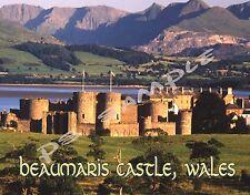 Wales - BEAUMARIS CASTE - Travel Souvenir Flexible Fridge MAGNET