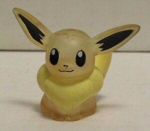 1996 Pokemon Finger Puppet Clear Eevee Figure Catch Them All Nintendo Bandai