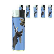 Scenic Alaska D2 Lighters Set of 5 Electronic Refillable Butane Bald Eagle