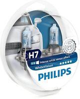 Philips H7 55W 12V WhiteVision Bulbs Intense white light 12972WHVSM Twin