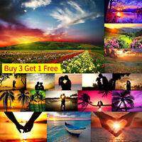 New Sunset View Full Drill DIY 5D Diamond Painting Embroidery Cross Stitch Hot