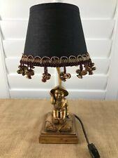 Table Decorative Lamp Asian Oriental Figure Accent Gold Black