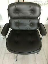 Original Vintage Herman Miller Eames 105 Lobby Chair Brown Leather RRP £5700