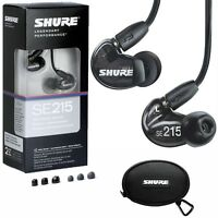 New SHURE SE215-K Sound Isolating In-Ear Headphones Earphones IEM Earbuds, BLACK