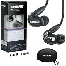 NEW SHURE SE215-K Sound-Isolating In-Ear Stereo Earphones Headphones (Black)