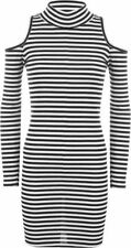 Stretch, Bodycon Machine Washable Casual Striped Dresses for Women