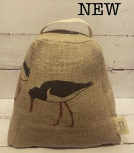 emily bond oyster catcher fabric door Stop - coastal - made in Cornwall