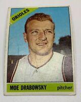 1966 Topps Moe Drabowsky # 291 Baseball Card Baltimore Orioles