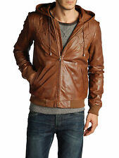 Diesel Black Gold laymall Marron Veste en cuir taille 44 (XS) 100% Authentique